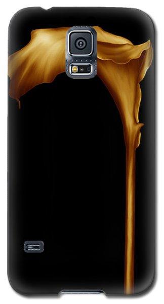 The Golden Calla Lilly Galaxy S5 Case