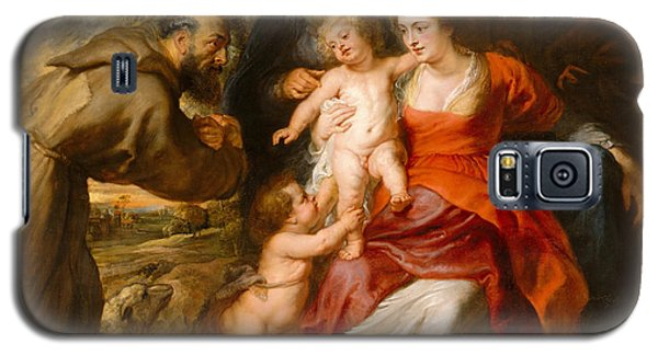 Galaxy S5 Case featuring the painting The Holy Family With Saints Francis And Anne And The Infant Saint John The Baptist by Peter Paul Rubens