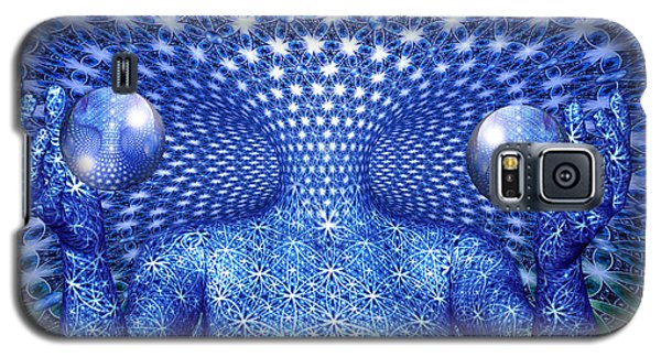 Galaxy S5 Case featuring the painting The Invention Of Duality by Robby Donaghey
