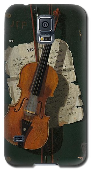 Violin Galaxy S5 Case - The Old Violin by Mountain Dreams