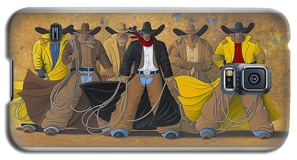 Galaxy S5 Case featuring the painting The Posse by Lance Headlee