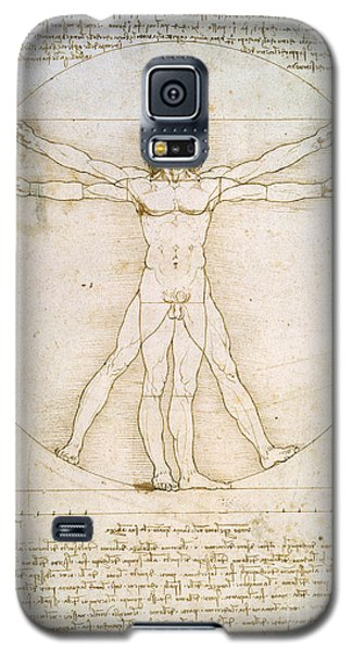 Nudes Galaxy S5 Case - The Proportions Of The Human Figure by Leonardo da Vinci