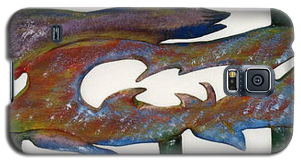 Galaxy S5 Case featuring the mixed media The Prozak Fish by Robert Margetts