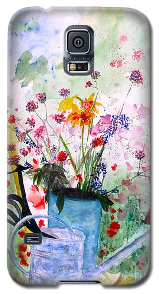 Galaxy S5 Case featuring the painting The Resting Place by Beth Saffer