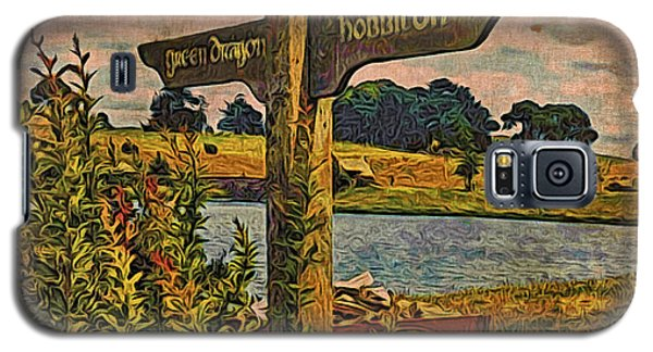 Galaxy S5 Case featuring the digital art The Road To Hobbiton by Kathy Kelly