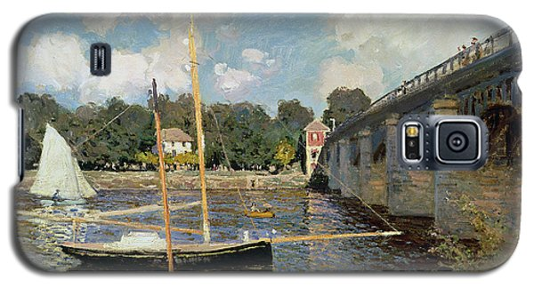 Boat Galaxy S5 Case - The Seine At Argenteuil by Claude Monet