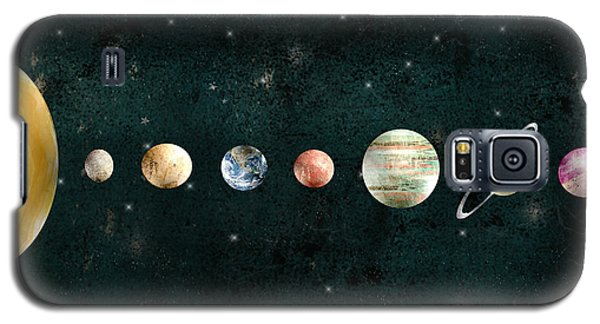 Galaxy S5 Case featuring the painting The Solar System by Bri B