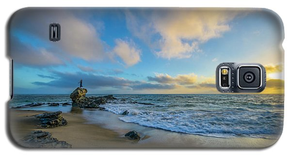 Galaxy S5 Case featuring the photograph The Woman And Sea by Sean Foster