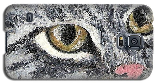 Galaxy S5 Case featuring the painting Tiger Cat by Reina Resto