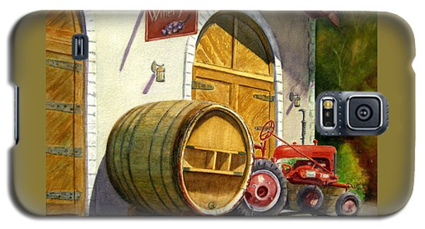 Galaxy S5 Case featuring the painting Tractor Pull by Karen Fleschler