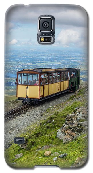Galaxy S5 Case featuring the photograph Train To Snowdon by Ian Mitchell