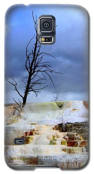 Galaxy S5 Case featuring the photograph Travertine Terraces by Irina Hays