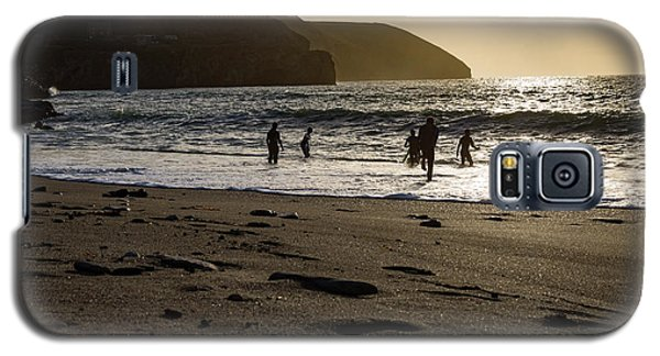 Galaxy S5 Case featuring the photograph Photographs Of Cornwall Trevellas Cove Cornwall by Brian Roscorla