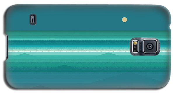 Galaxy S5 Case featuring the digital art Tropical Sea Moonrise by Val Arie