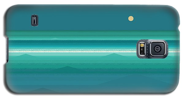 Tropical Sea Moonrise Galaxy S5 Case by Val Arie
