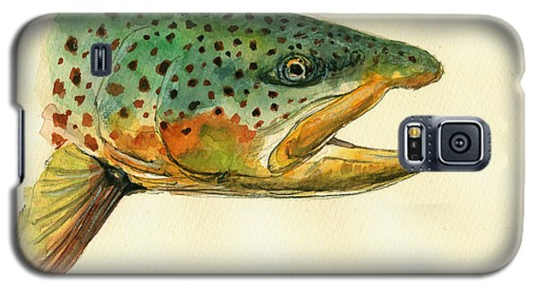 Trout Galaxy S5 Case - Trout Watercolor Painting by Juan  Bosco