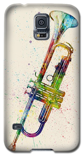 Trumpet Galaxy S5 Case - Trumpet Abstract Watercolor by Michael Tompsett