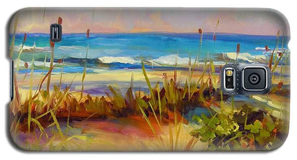 Galaxy S5 Case featuring the painting Turquoise Tide by Chris Brandley
