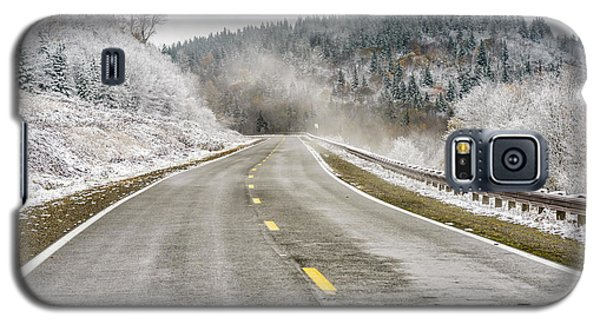 Galaxy S5 Case featuring the photograph Unexpected Autumn Snow Highland Scenic Highway by Thomas R Fletcher