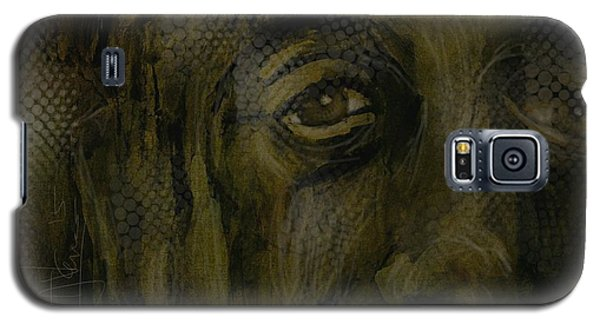 Galaxy S5 Case featuring the painting Untitled Portrait June 6 2015 by Jim Vance