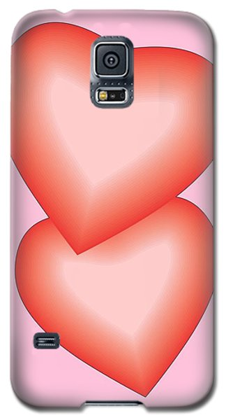 Galaxy S5 Case featuring the digital art Valentine Hearts by Sherril Porter
