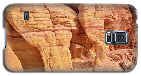 Galaxy S5 Case featuring the photograph Valley Of Fire Wall Arches by Ray Mathis