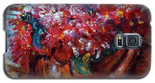Galaxy S5 Case featuring the painting Vase by Jasna Dragun