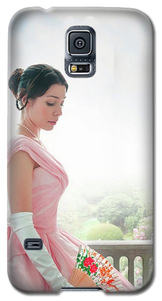 Victorian Woman In A Pink Ball Gown Galaxy S5 Case by Lee Avison