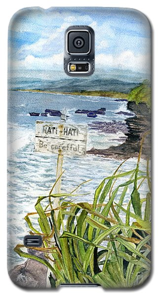 Galaxy S5 Case featuring the painting View From Tanah Lot Bali Indonesia by Melly Terpening