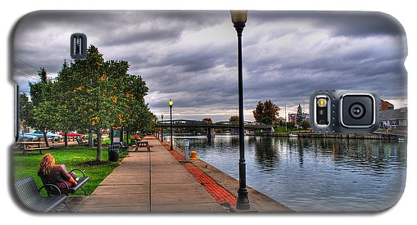 View Of Delaware Bridge At Erie Canal Harbor Galaxy S5 Case