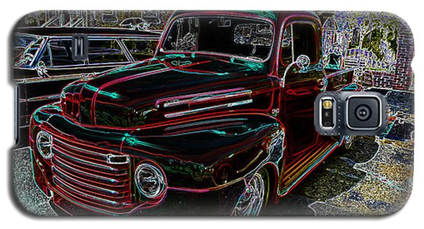 Vintage Chevy Truck Neon Art Galaxy S5 Case