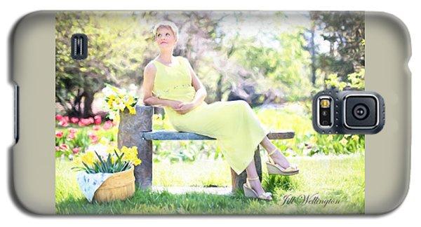 Vintage Val Spring Tulips Galaxy S5 Case