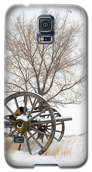 Wagon In The Snow Galaxy S5 Case
