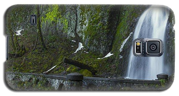 Wahkeena Falls Bridge Signed Galaxy S5 Case