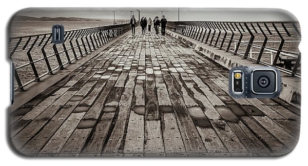 Galaxy S5 Case featuring the photograph Walking The Pier by Perry Webster