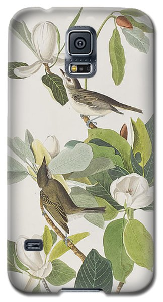 Warbling Flycatcher Galaxy S5 Case by John James Audubon