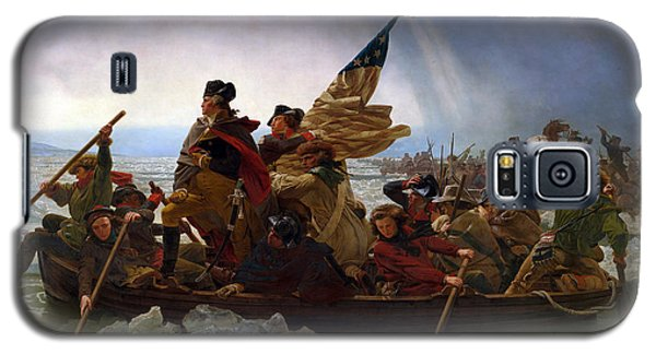 Galaxy S5 Case featuring the digital art Washington Crossing The Delaware by Emanuel Leutze