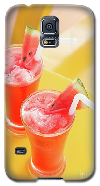 Galaxy S5 Case featuring the photograph Waterlemon Smoothie by Atiketta Sangasaeng