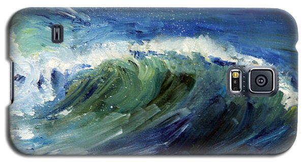 Wave Action Galaxy S5 Case by Michael Helfen