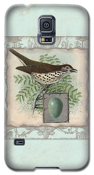 Welcome To Our Nest - Vintage Bird W Egg Galaxy S5 Case by Audrey Jeanne Roberts