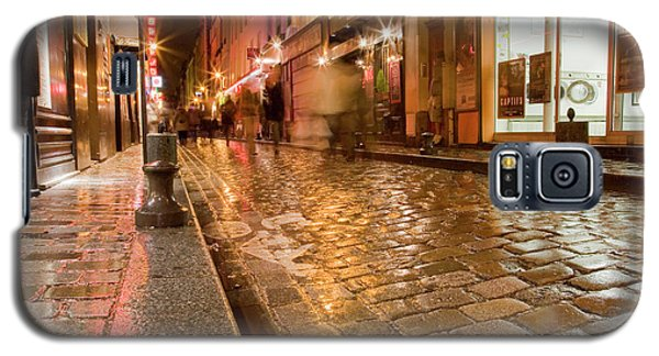 Galaxy S5 Case featuring the photograph Wet Paris Street by Matthew Bamberg