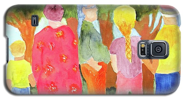 Galaxy S5 Case featuring the painting What's To See by Sandy McIntire