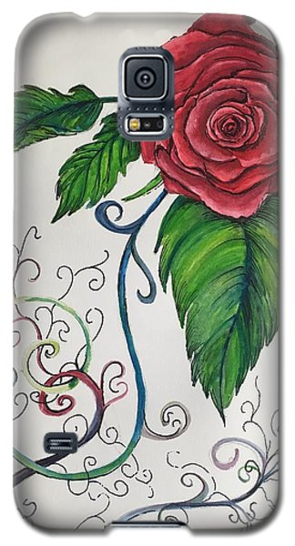 Whimsical Red Rose Galaxy S5 Case