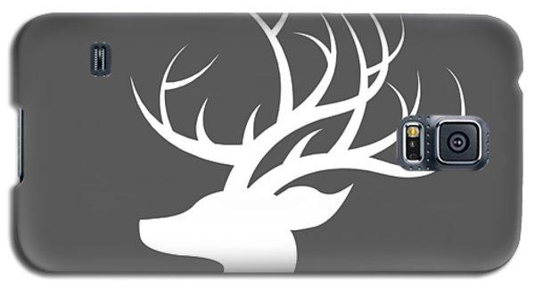 White Deer Silhouette Galaxy S5 Case