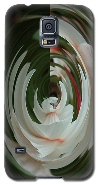 Galaxy S5 Case featuring the photograph White Form by Nareeta Martin