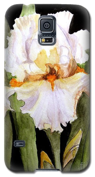White Iris In The Garden Galaxy S5 Case by Carol Grimes