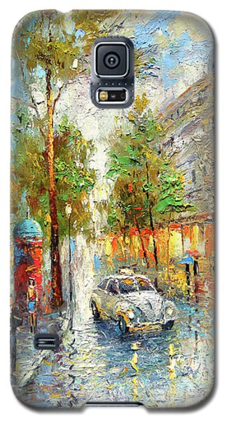 White Taxi Galaxy S5 Case by Dmitry Spiros