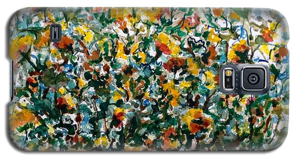 Galaxy S5 Case featuring the painting Wild Flowers#3 by Laila Awad Jamaleldin