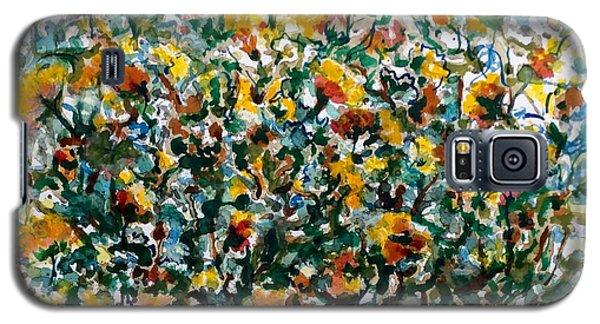 Wild Flowers#3 Galaxy S5 Case by Laila Awad Jamaleldin