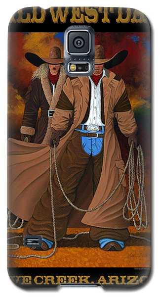 Galaxy S5 Case featuring the painting Wild West Days Poster/print  by Lance Headlee